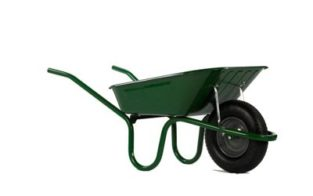 HAEMMERLIN HEAVY DUTY WHEELBARROW GREEN 90L